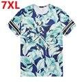 Негабаритных лето мужская футболка XL МУЖСКИЕ БОЛЬШОЙ РАЗМЕР БОЛЬШОЙ жира с коротким рукавом живот мужчины half рукав 7XL 6XL