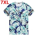 Oversize summer men's t-shirt XL MENS BIG SIZE LARGE fat short sleeved belly men half sleeve T 7XL 6XL