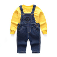 Baby Boy Suit Cartoon Yellow People Children S Pants Wear Sweater Minions Trousers Spring Summer Children
