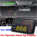"Auto 5.5"" HUD Head Up Display Windscreen Projector OBD II Car Data Diagnosis Accent Azera Elantra Santa Fe Sonata IX35 hmd"