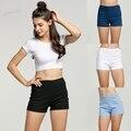 Summer New Fashion Womens Sexy Skinny Thin High Waist Shorts Denim Shorts Jeans Side Zipper Short 63