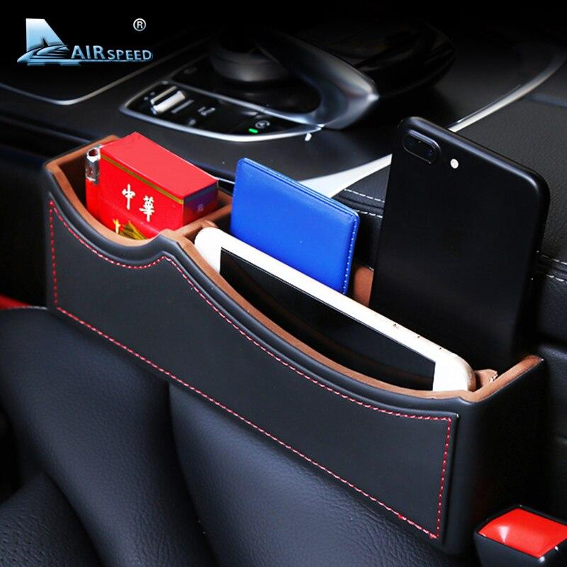 Caixa de Armazenamento de Couro Assento de Carro Fenda velocidade do ar para Mercedes Benz CIA GLA W205 W203 W211 W212 W213 Acessórios Do Carro Assento organizadores