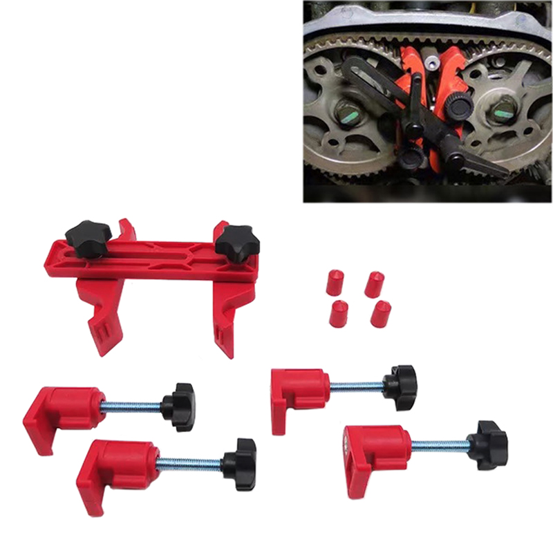 JEAZEA 1 Set Car Camshaft Engine Timing Sprocket Gear Locking Dual Cam Clamp Tool Kit for