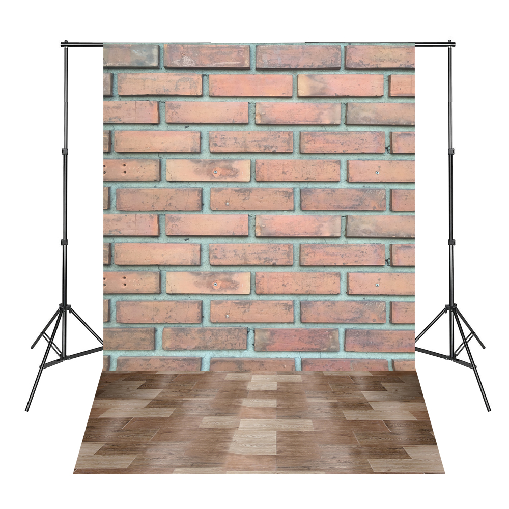 Red Bricks Floor Baby Shower Backdrop Background Fond Studio Photo Vinyle