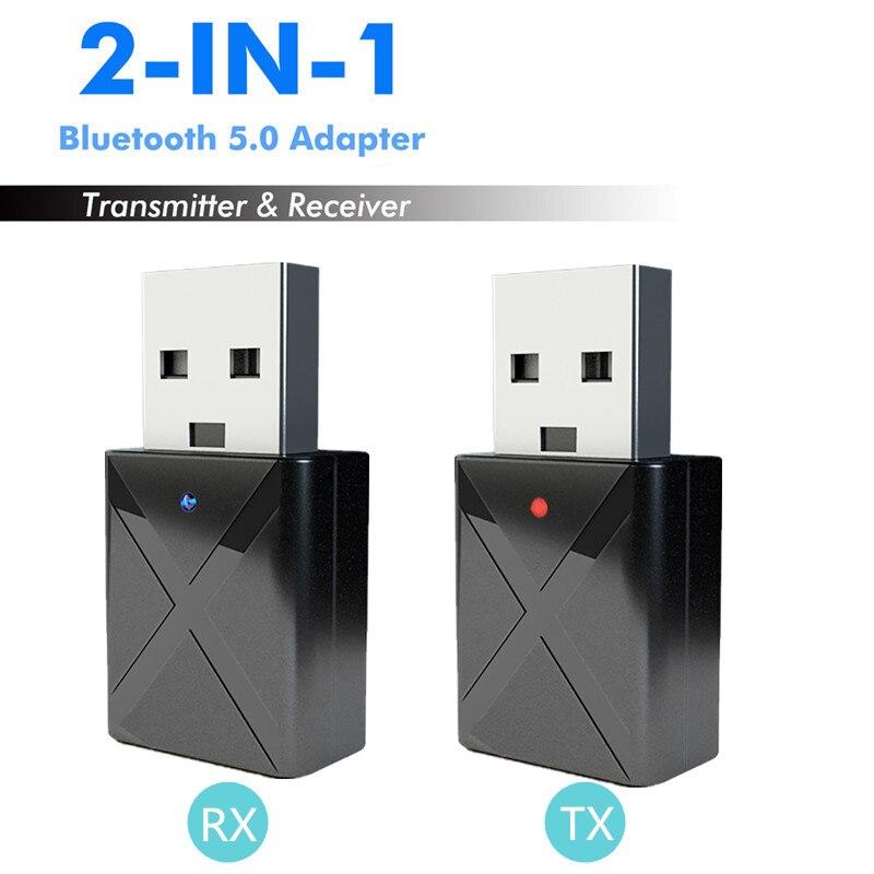 2 In 1 Bluetooth 5,0 Audio Receiver Transmitter 3,5mm Aux Wireless Adapter Für Auto Mp3 Player Pc Tv Lautsprecher Kopfhörer Usb Power