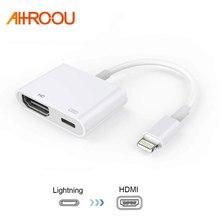 Для Ipad, чтобы HDMI адаптер для Lightning цифровой аудио-видео HDMI 4 К разъем USB кабеля до 1080P HD для Iphone X 8/76 S/Ipad Air/Ipod