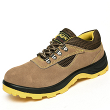 2019 New Men's Steel Nose Safety Work Shoes Anti-smashing Anti-piercing Acid And Alkali And Wear Resistant Work Boots 35-45
