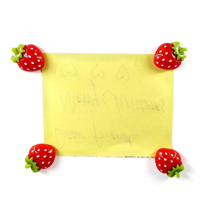 10pcs Red Strawberry fridge magnets Resin Craft whiteboard Refrigerator Kid Message post Home DIY Decoration Accessories in Fridge Magnets from Home Garden