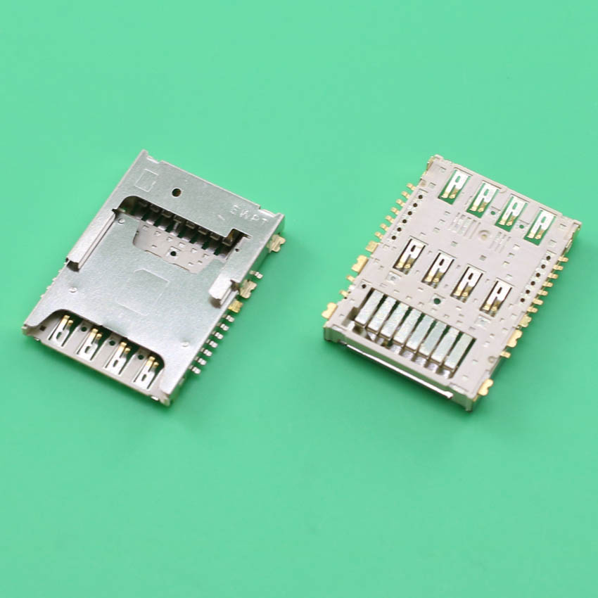YuXi 2pcs/Lot For LG G3 D855 D850 F400 Sim Card Reader Holder With Memory Tray Slot Socket