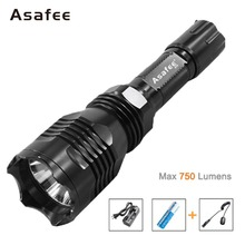Asafee B58 Night Hunting Flash Light White Red Green 1 Mode CREE XM-L2(U4) LED Remote Control Flashlight 18650 Battery