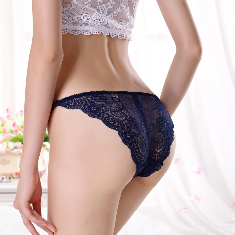 BEFORW Sexy Women Lace Panties Low Rise Transparent Underwear Women Briefs Size M L XL Solid Sexy Lingerie Women Underpants
