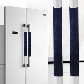 Kitchen Appliance Handle Cover Decor  Smudges A Pair Refrigerator  Handle Door Appliance Fridge Oven Door Knob Covering