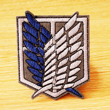 Japan Cartoon/Anime Patch DIY Hook Loop Embroidered Patches For Clothing Iron On Clothes Stripe Attack Titan