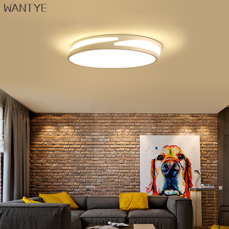 Acrylic Round Ceiling Lamp Dimmable LED Modern Indoor Lighting Ceiling Light with Remote Control for Bedroom Dining Living room black and white round lamp modern led light remote control dimmer ceiling lighting home fixtures