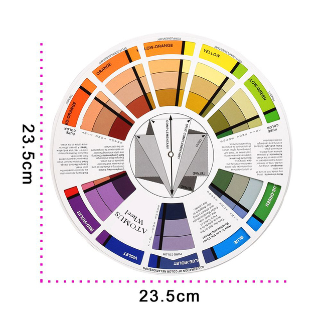 1pc Tattoo Ink Color Wheel Chart Permanent Makeup Accessories Micro Pigment Nail Manicure Art