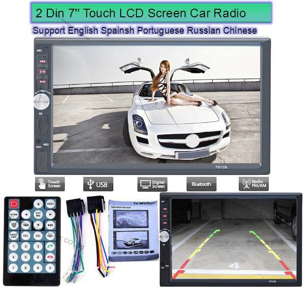 2 Din 7 Inch Bluetooth Car Stereo MP4 MP5 Player HD In Dash Car Radio Player Touch Screen Bluetooth Stereo MP3 MP5