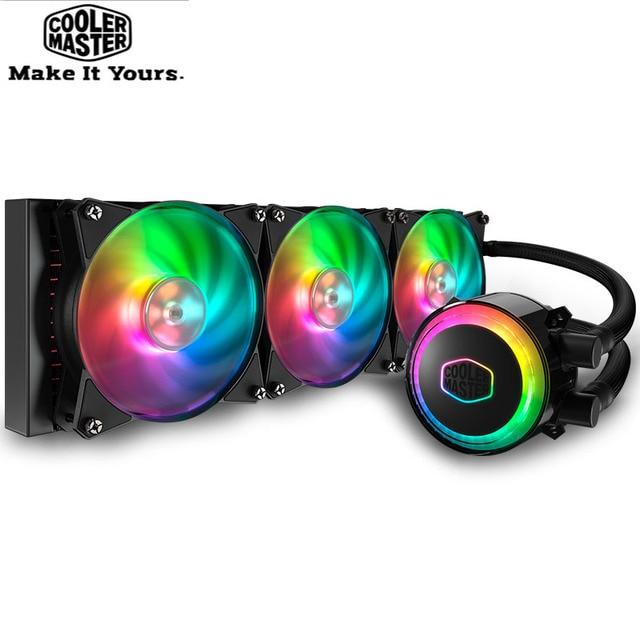 Cooler Master MLX D36M A20PC R1 ML360 CPU Water Cooler 120mm RGB Fan For Intel 115x 2011 2066 AMD AM4 CPU Liquid Cooling