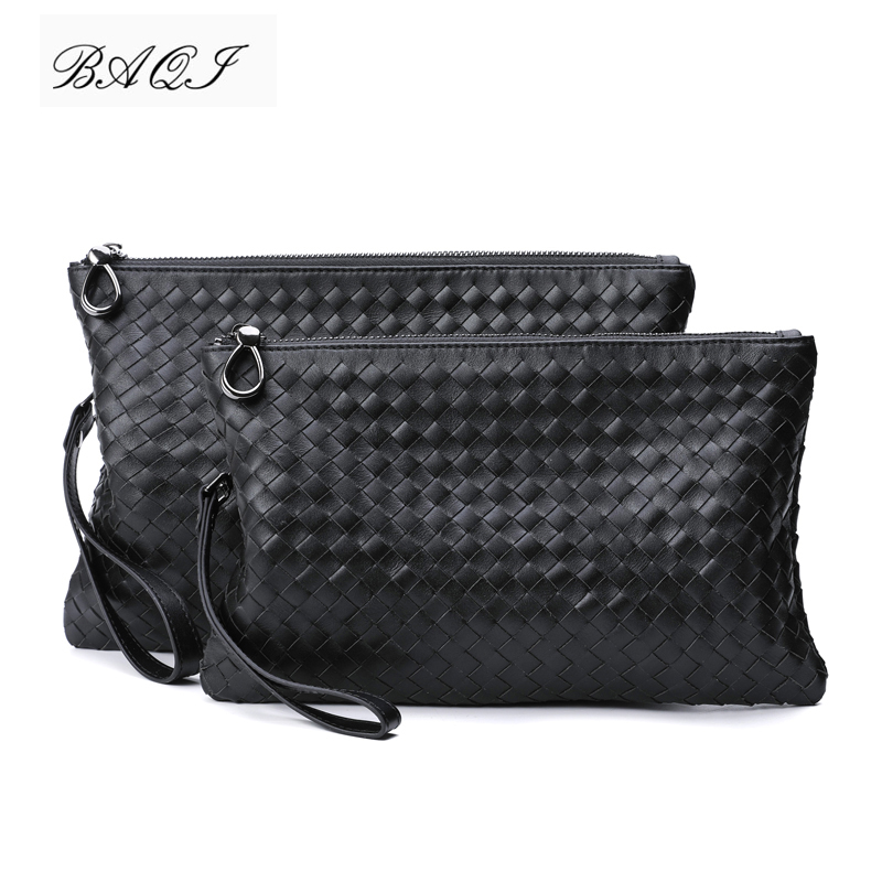 BAQI Brand Men Wallets Clutch Bag Genuine Leather Cowhide Hand Knit Men Handbag High Quality BV 2019 Fashion Ipad Bag Men CasualBAQI Brand Men Wallets Clutch Bag Genuine Leather Cowhide Hand Knit Men Handbag High Quality BV 2019 Fashion Ipad Bag Men Casual