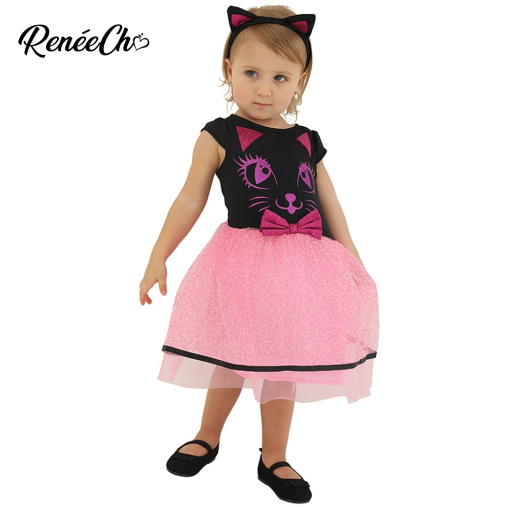 Halloween Costume For Baby Toddler Kitty Costume Infant Cat Costumes Girls Birthday Princess Dress Christmas Party Cosplay