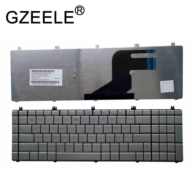 GZEELE NUOVO Argento Disposizione DEGLI STATI UNITI Inglese Tastiera Del Computer Portatile per Asus serie N55 N55SL N55SF N75 N75SF N75SF N75SL N75S N75Y n55SF