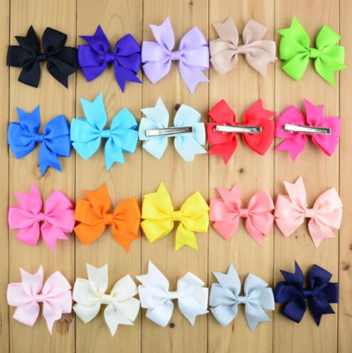 Sale Popular Children Hair Clip Hair Accessories Headwear Baby Ribbon Bow Cute Girls Hairpins Xth067-6