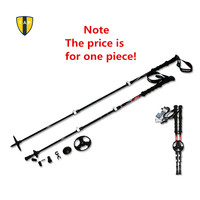 Carbon Fiber Trekking Poles Ultra-light Adjustable Bastones Trekking Hiking Walking Stick Alpenstock Climbing Cane