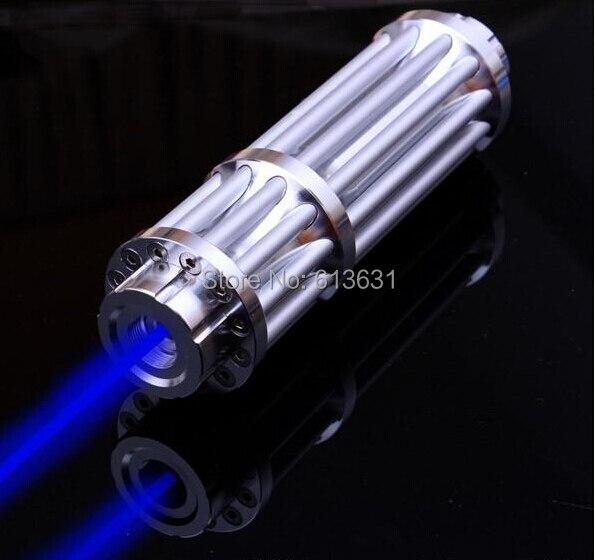 Blu Puntatori Laser 500000 m 450nm Masterizzazione Partita/Legno Secco/Candela accesa/, Bruciare Sigarette SOS, Segnale di campeggio di Caccia Lampada