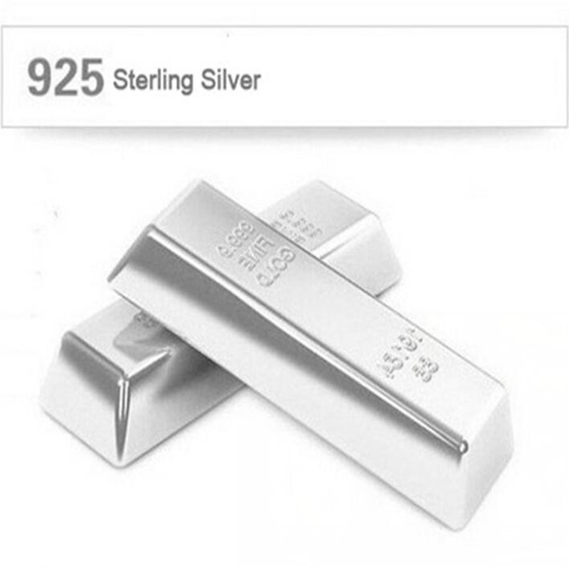 10G 20G 50G 100G 999 Sterling Silver Bar Fine Jewelry Real Pure Silver Raw Material To Make Silver Jewelry 999 Silver Investment in Earrings from Jewelry Accessories