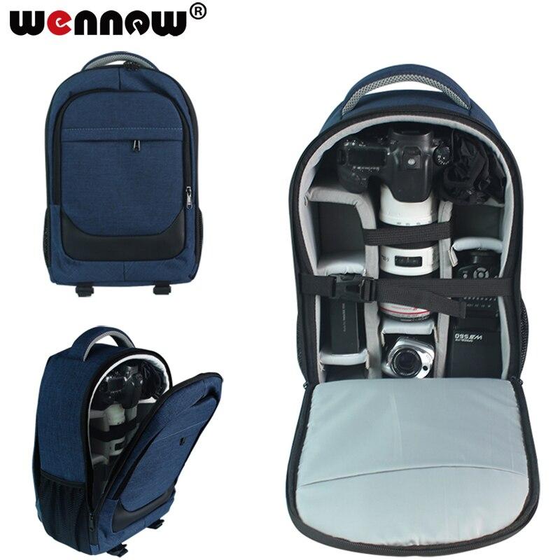 Wennew DSLR sac caméra sac à dos objectif étui pour Canon EOS R 5D Mark IV III 6D 7D Mark II 2 70D 77D 4000D 2000D 50D 60D 60Da