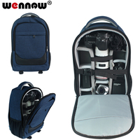 wennew DSLR Bag Camera Bag Backpack Lens Case for Canon EOS R 5D Mark IV III 6D 7D Mark II 2 70D 77D 4000D 2000D 50D 60D 60Da