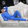 SEEINNER Brand Men's Thin Thermal Underwear Suits Based Render Dot Printed Low Waist Long Johns (for A Suit)