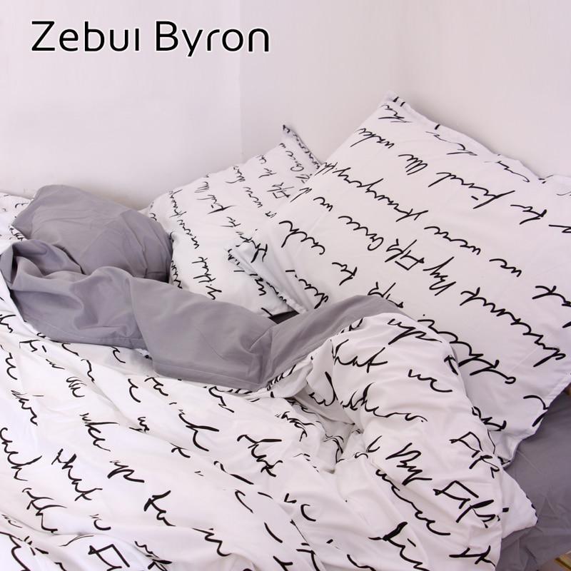 Copripiumino Singolo Nero.Thelittlecupcakerytlc Offerte Zebui Byron Lettera Personalizzata