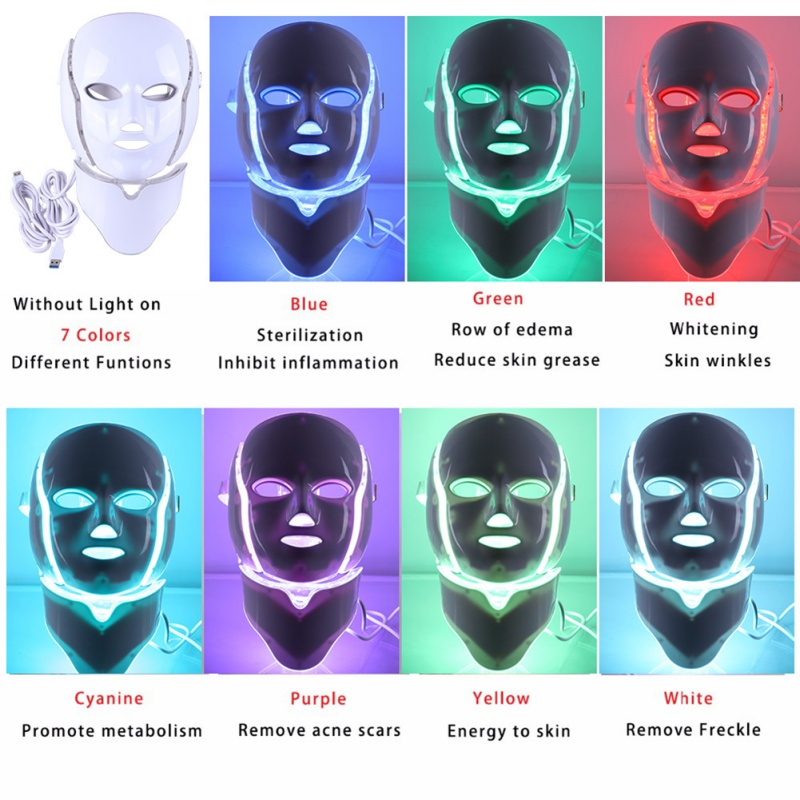 7 Colors LED Electric Photon Facial Mask with Neck Skin Anti Acne Wrinkle Beauty Treatment Salon Home Use Tools New Arrival7 Colors LED Electric Photon Facial Mask with Neck Skin Anti Acne Wrinkle Beauty Treatment Salon Home Use Tools New Arrival