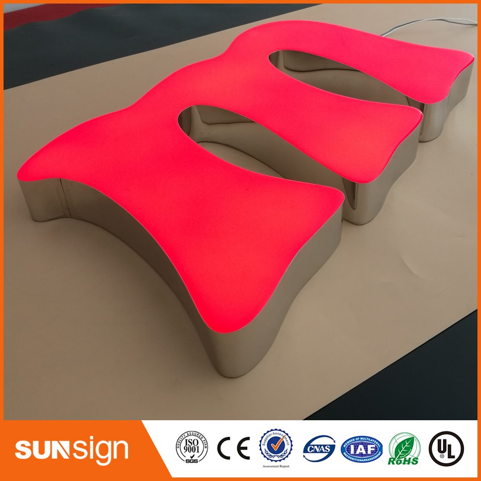 Aliexpress Chrome Stainless Steel Return Led Signage Outdoor