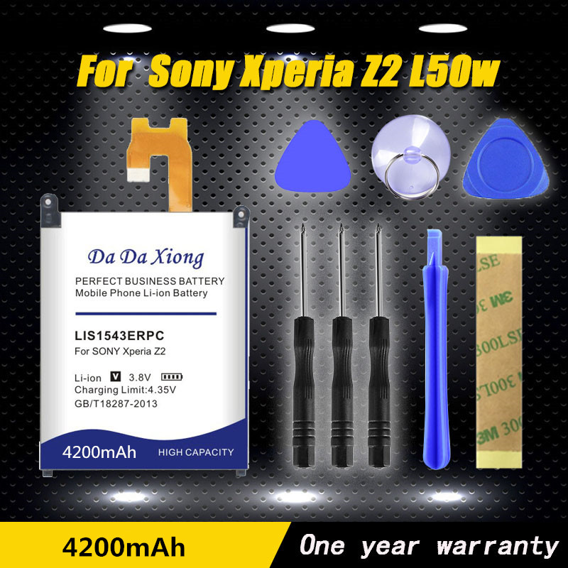 Alta qualidade 4200mAh Li-ion Bateria Do Telefone para Sony Xperia Z2 LIS1543ERPC L50w L50U L50T Sirius ASSIM-03 D6503 d6502 bateria