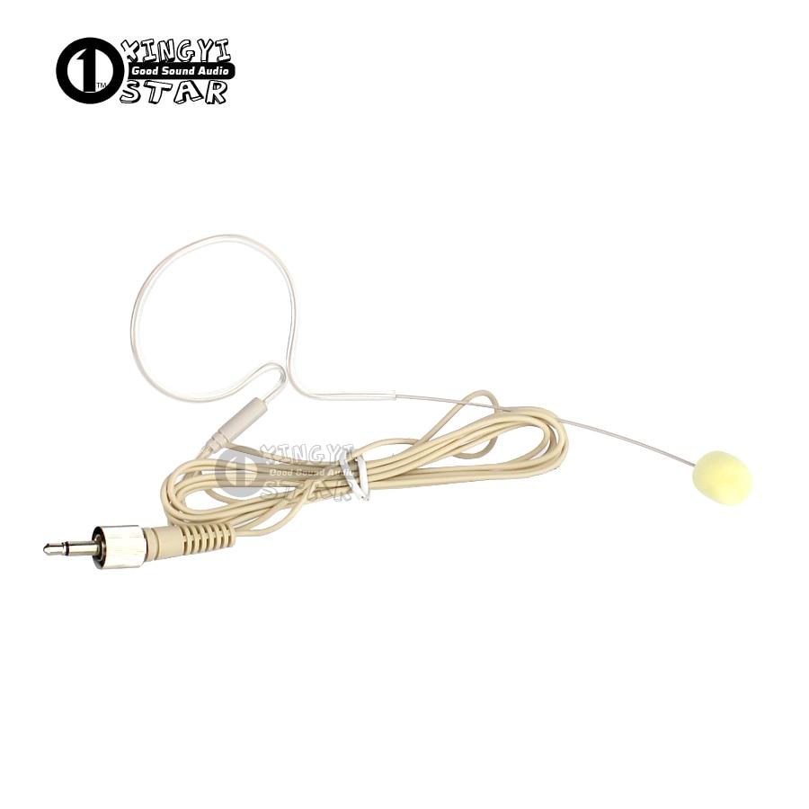 Béžová Single Earhook Headset Mikrofon 3,5 mm Šroub Lock Plug Kondenzátor Mic Microfon Pro Karaoke Bezdrátový Bodypack vysílač  t