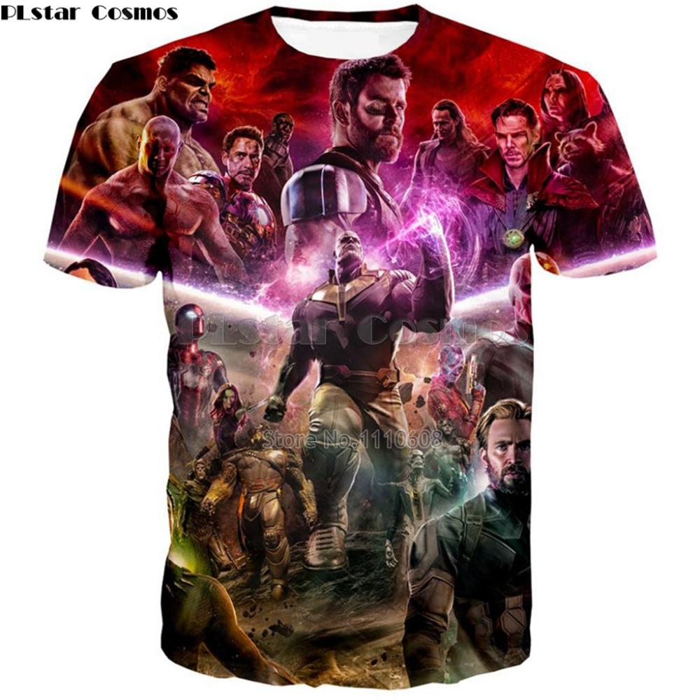 Marvel Avengers 3 Infinity War T Shirt Avenger Thanos iron man 3D T-shirt Costume Cosplay Superhero Fashion Streetwear Tee Shirt
