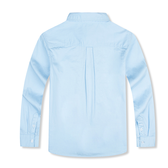 On Sale Children Boys Shirts European and American Style Solid 100% Cotton Kids Shirts For 4-13 year Kid Wear