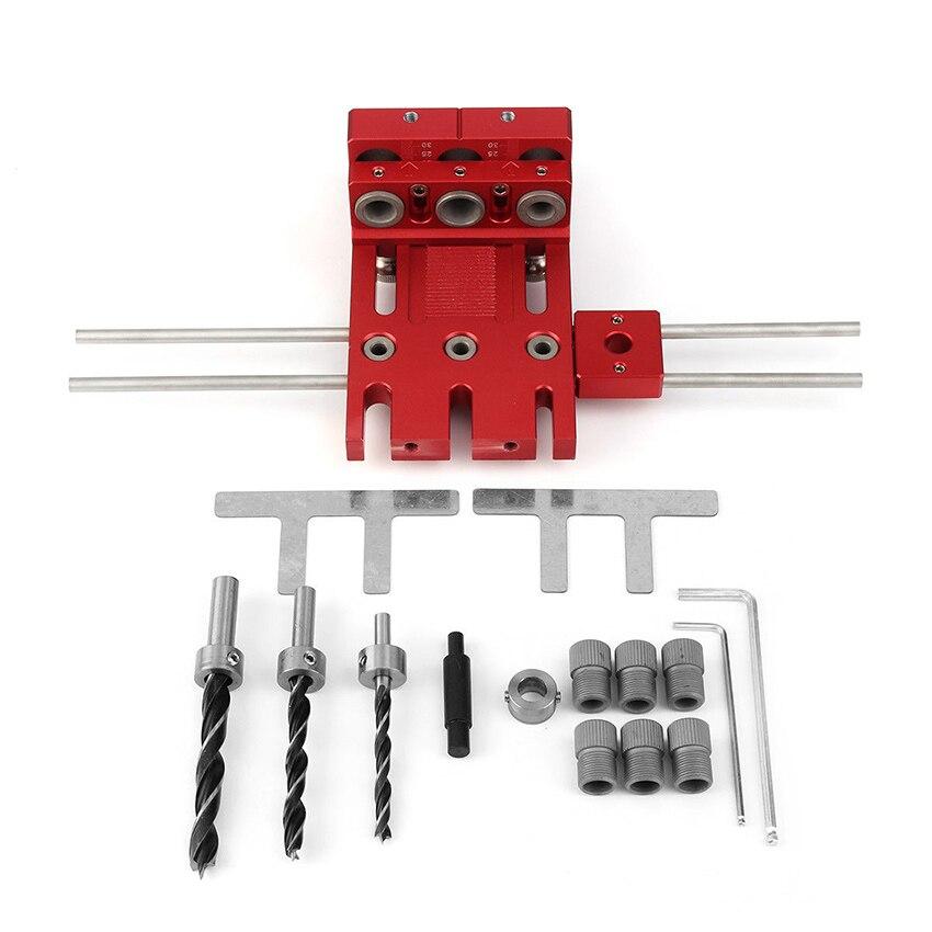 Kit de guidage de perceuse à bois 3 en 1 localisateur de travail du bois