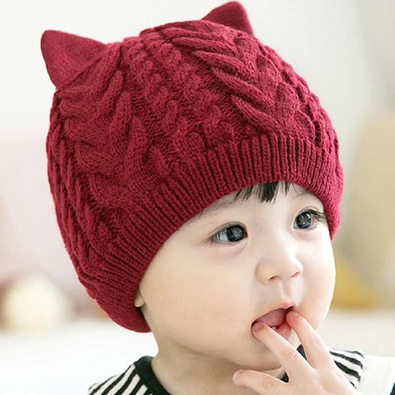 หมวกเด็กถักหมวกหูสำหรับทารกเด็กฤดูหนาวหมวกเด็กทารกหมวก