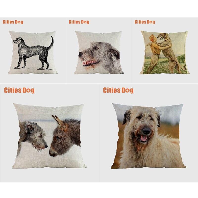 Irish Wolfhound hund kissenbezüge dekorative kissenbezüge für sofa Kissen Tier hunde kissenbezug kissen abdecken wohnkultur