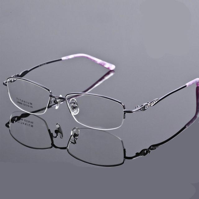 2016 Новый спектакль очки чистого ТИТАНА ПОЛОВИНА очки рамка оправы очки мужчины женщины Близорукость óculos Tg8866