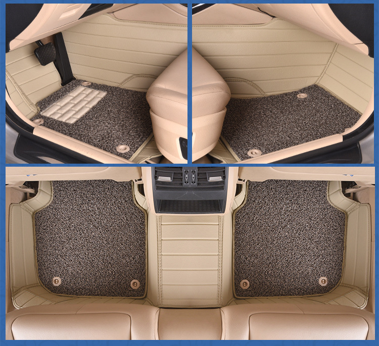 Myfmat custom foot leather rugs mat for AUDI Q3 Q5 Q7 R8 TT AUDI100 S3 S5 S6 S8 S7 RS 6 RS 4 flanged pads coffee double layer in Floor Mats from Automobiles Motorcycles