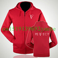 S~XXXL Roger Federer RF Logo Zipper Hoodie Winter Clothing Sweatshirts