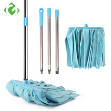 GUANYAO Large Microfiber head  Floor mop House cleaner Stainless steel Handle Manually wring the Household Cleaning Tools