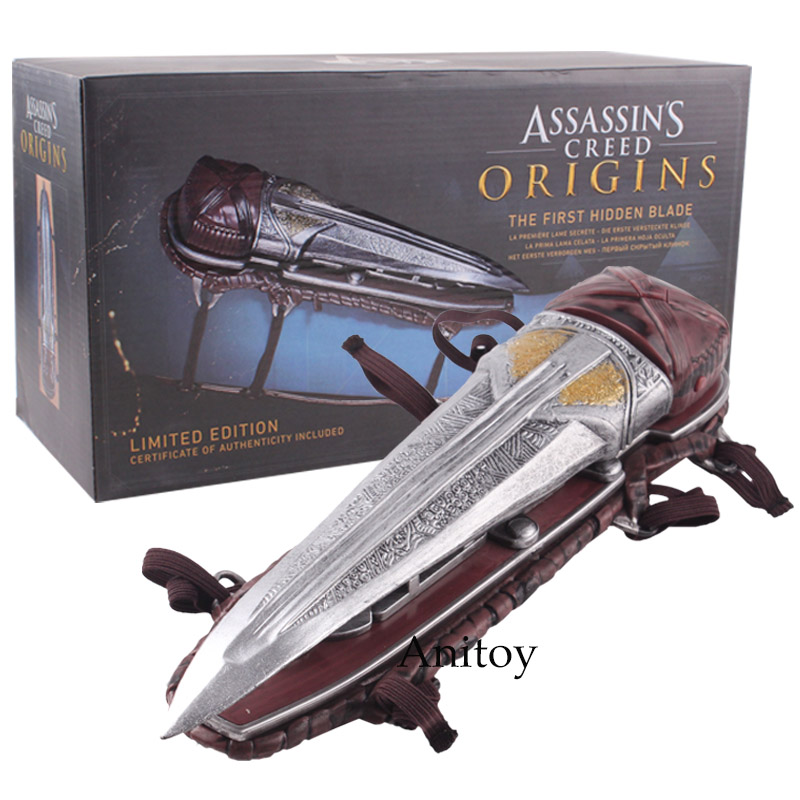 Assassin's Creed Origins The First Hidden Blade Limited Edition Authenticity Cosplay Weapon Action Figure Model Toy 21.5cm free shipping500mm central distance 200mm stroke 80 to 1000n force pneumatic auto gas spring lift prop gas spring damper