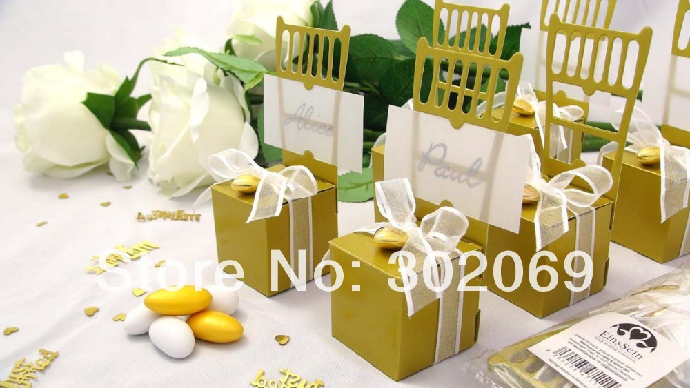 Chair Place Card Holder And Wedding Favor Box Candy Boxes Name Card