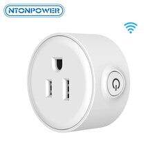 цена на NTONPOWER Mini Smart Wifi Socket Remote Control Power Strip US Plug Timing Switch for Smart Home Automation Electronics System