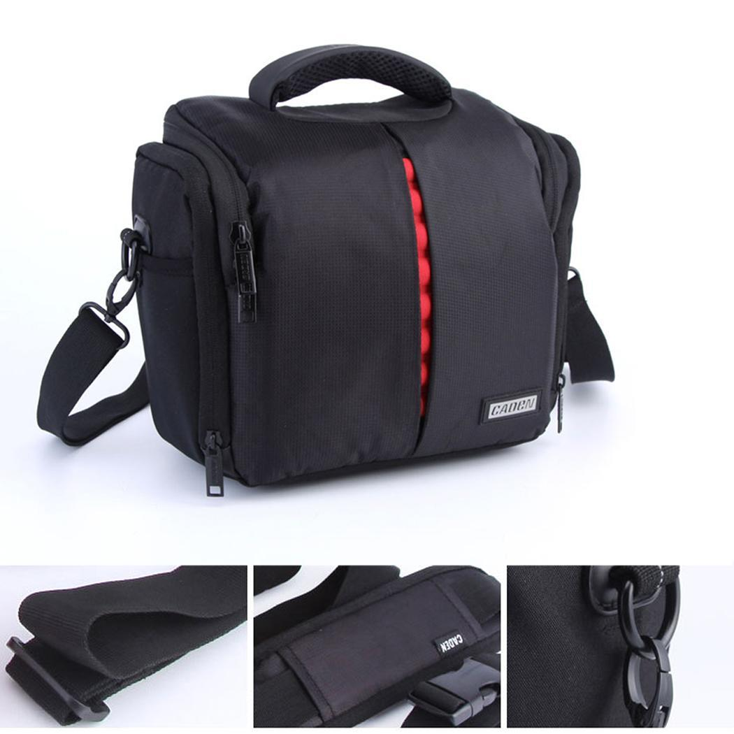 DSLR Digital Sling Camera Case Nylon For Canon Shoulder Zipper Bag Backpack Black