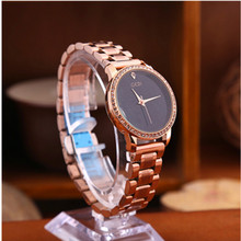New Fashion Women Watches Quartz Analog Wrist  Stainless Steel Casual Wild Simple Gold Chronograph